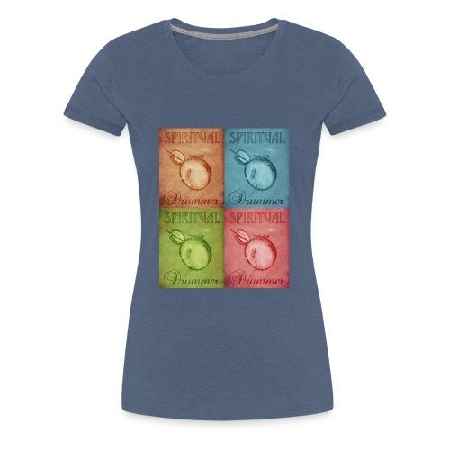 vintage drum - T-shirt Premium Femme