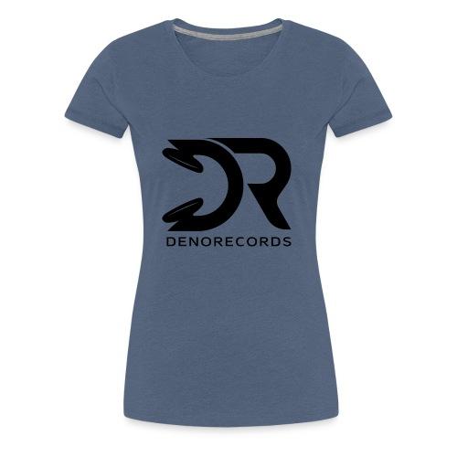 Denorecords Black Png - Frauen Premium T-Shirt