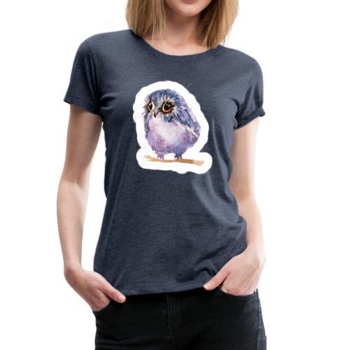 Nice Purple owl - Women's Premium T-Shirt
