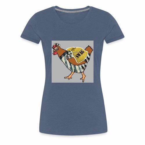 SWAG Chicken Logo - Women's Premium T-Shirt