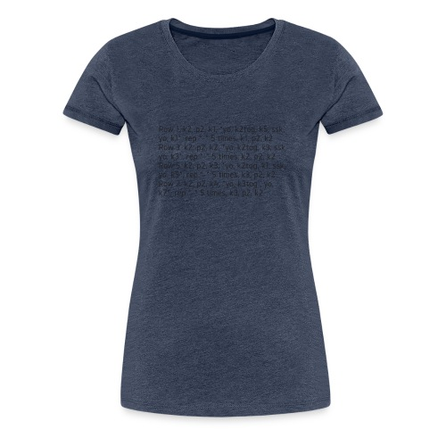 Knit Talk, dark - Women's Premium T-Shirt
