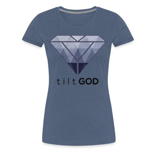 tiltGOD Logo V1 - Frauen Premium T-Shirt