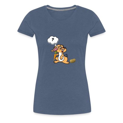 Verwirrt Hase - Frauen Premium T-Shirt