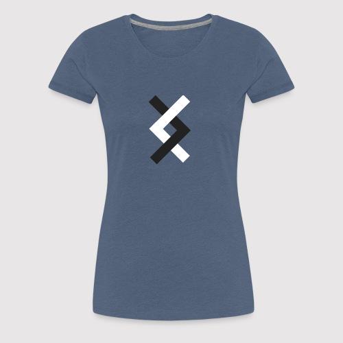 DANE - Black & White - Women's Premium T-Shirt