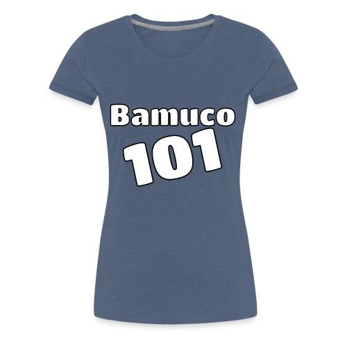 Bamuco101 Big White Logo - Naisten premium t-paita
