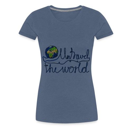 Untravel the World - Frauen Premium T-Shirt