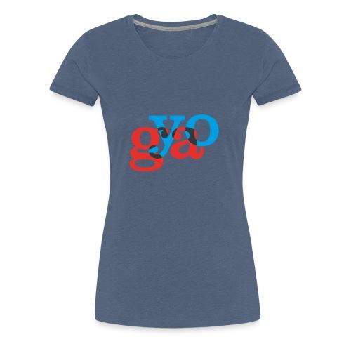 Yoga - Rot Blau - Frauen Premium T-Shirt