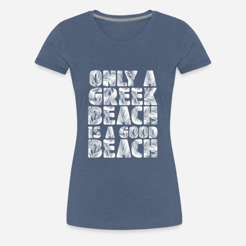BEACH white - Frauen Premium T-Shirt