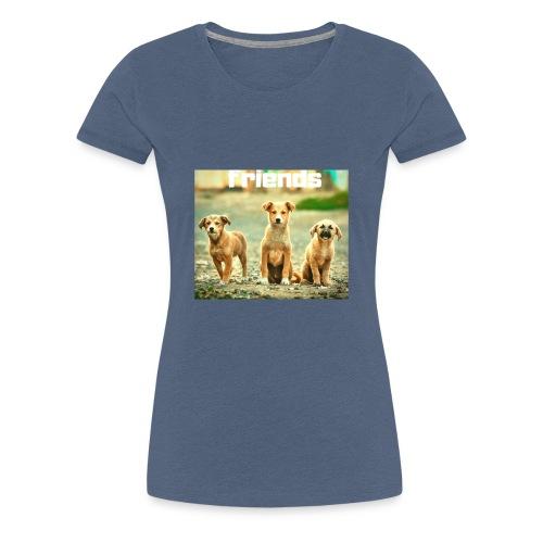 +++ HUNDE FREUNDE BANDE GESCHENK +++ - Frauen Premium T-Shirt