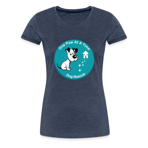 One Paw at a Time Logo - Women's Premium T-Shirt
