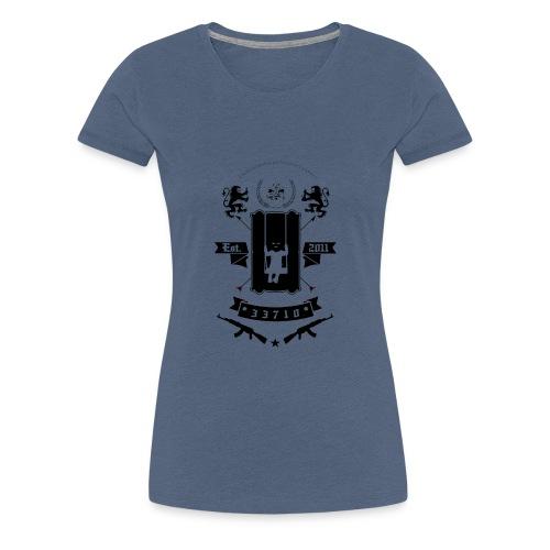 KKL LOGO MUSTA - Naisten premium t-paita