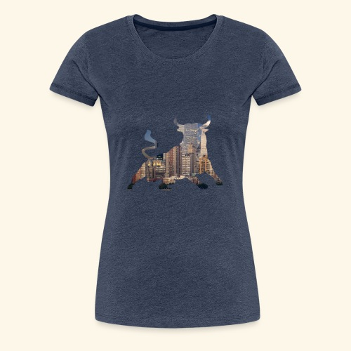 Wall-Street Bulle - Frauen Premium T-Shirt