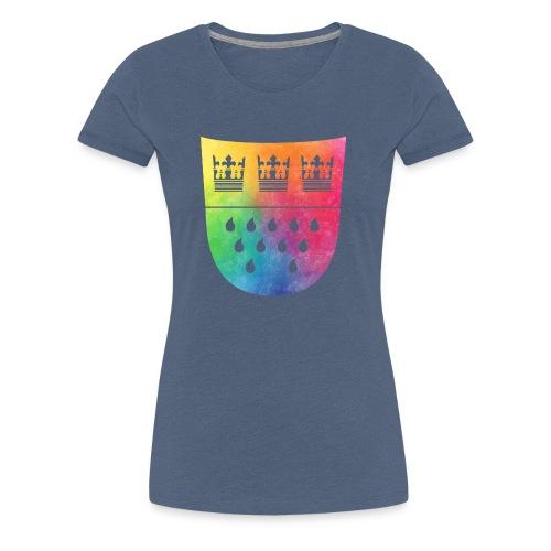 Kölner Wappen Rainbow - Frauen Premium T-Shirt