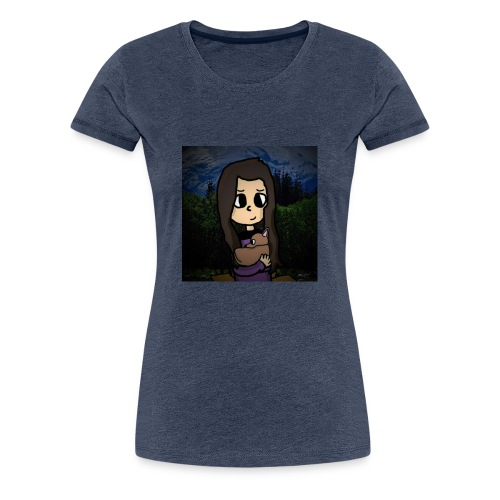 ninjax met achtergrond - Vrouwen Premium T-shirt