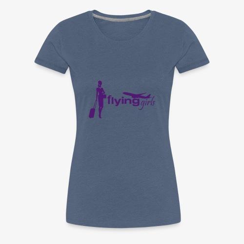 flying girls stewardess - Frauen Premium T-Shirt