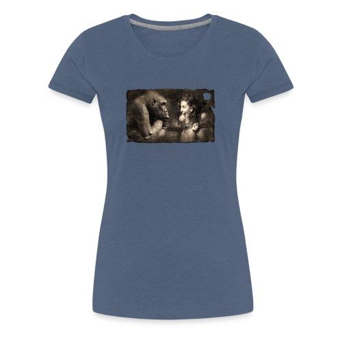 Girl & Monkey - Women's Premium T-Shirt