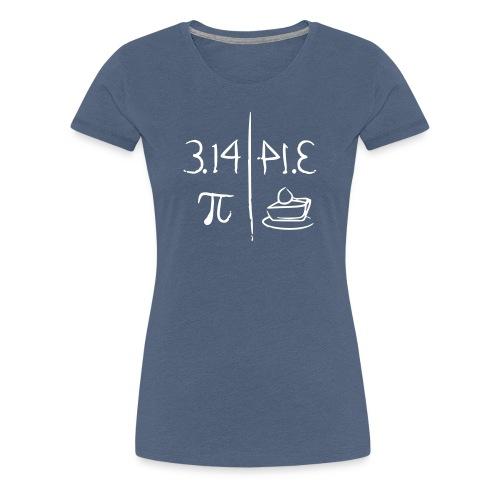 pi vs pie - Women's Premium T-Shirt