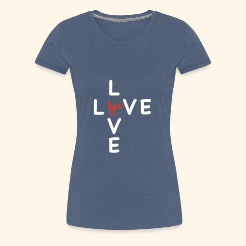 LOVE Cross white wheely red 001 - Frauen Premium T-Shirt