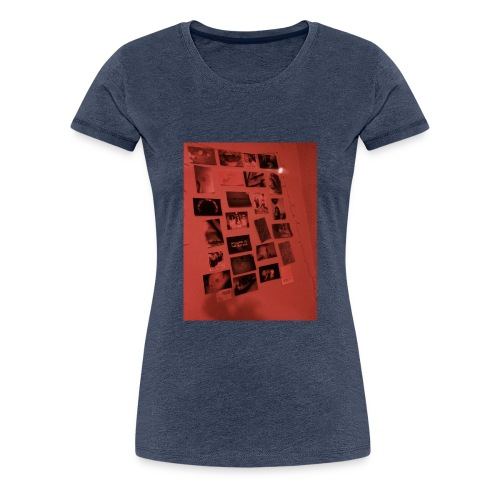 Red Grunge Night T-shirt - Women's Premium T-Shirt
