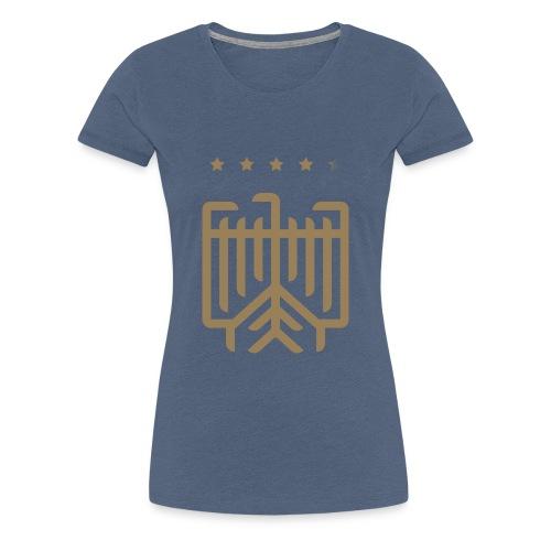 Deutsches WM T-Shirt (gold) - Frauen Premium T-Shirt