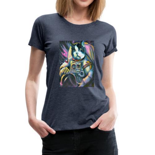 Gato Astronauta - Camiseta premium mujer