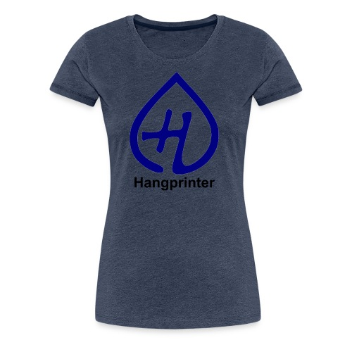 Hangprinter logo and text - Premium-T-shirt dam