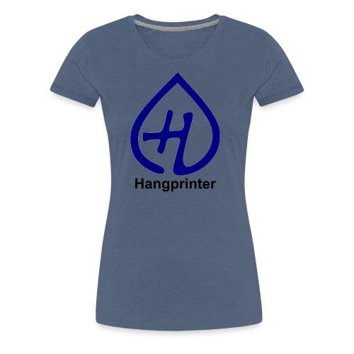 Hangprinter logo and text - Premium-T-shirt dam