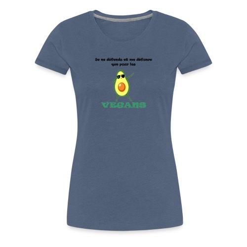 avocat vegan - T-shirt Premium Femme