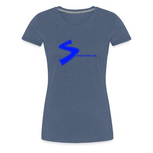 SEQUENCE BLUE - Frauen Premium T-Shirt