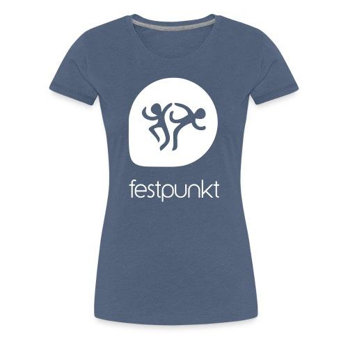 Festpunkt Logo White - Frauen Premium T-Shirt