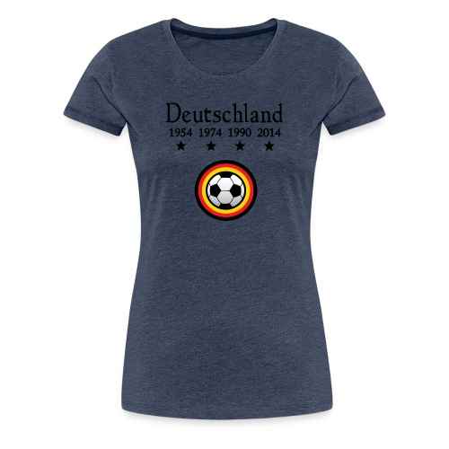 Moderne Fußball-T-Shirts Deutschland - Vrouwen Premium T-shirt