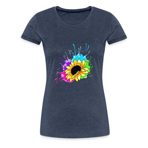 Sonnenblume Splash - Frauen Premium T-Shirt