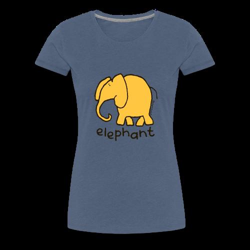 'elephant' - Bang on the door - Women's Premium T-Shirt