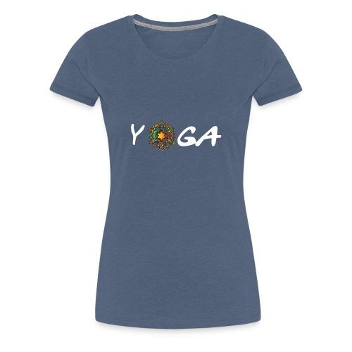 YOGA MANDALA T-SHIRT - Frauen Premium T-Shirt