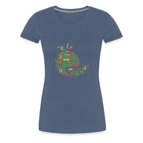 Vegan Word Cloud als Geschenkidee - Frauen Premium T-Shirt