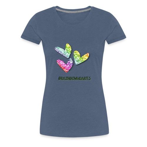 #RAINBOWHEARTS - Women's Premium T-Shirt