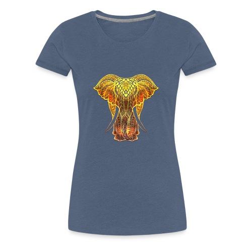Eléphant Feu - T-shirt Premium Femme