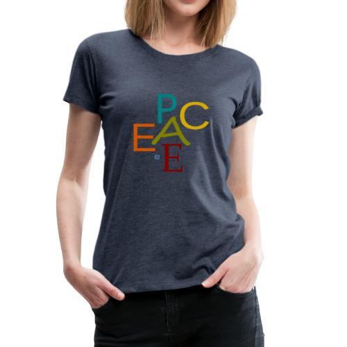 Peace (bunt) mit Jesus fragt Dich - Frauen Premium T-Shirt