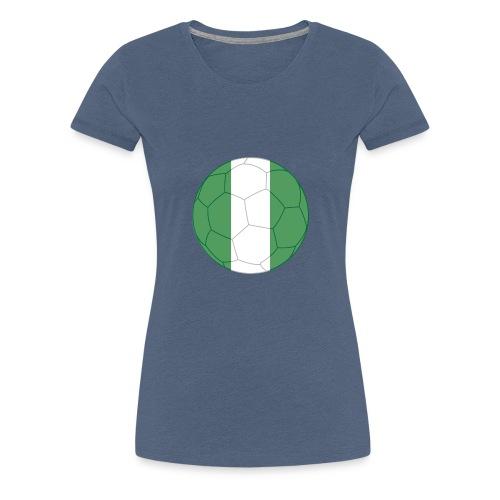 nigeria flag soccer - Frauen Premium T-Shirt
