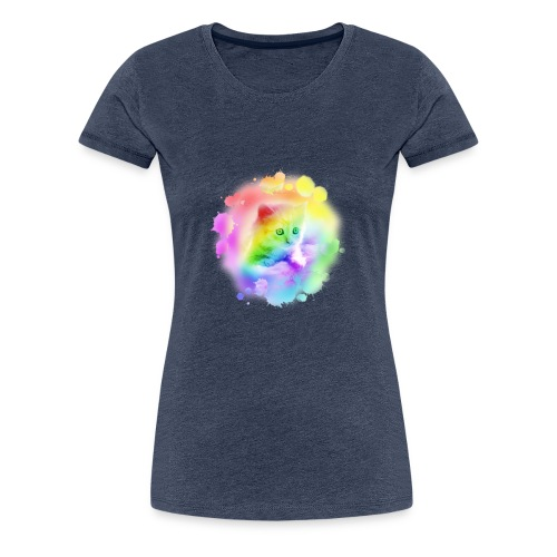 Rainbow Kitty - Women's Premium T-Shirt