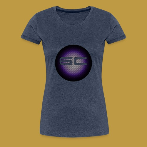 6c Logo Purple - Frauen Premium T-Shirt