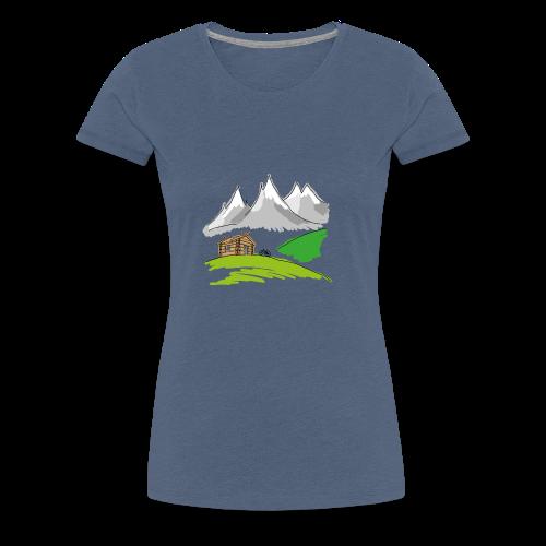 MTB Mountainbike Landschaft - Frauen Premium T-Shirt