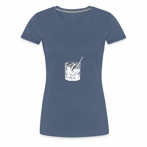 Kleines Glas Gin Tonic - Sommerdrink - Transparent - Frauen Premium T-Shirt