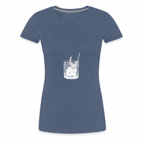 Kleines Gin Tonic Glas mit Rosmarin - transparent - Frauen Premium T-Shirt