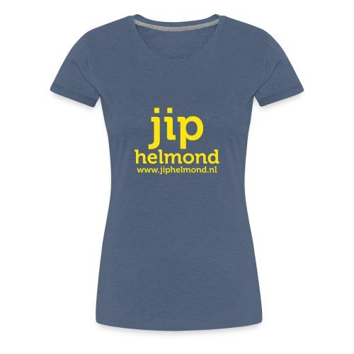 Jip helmond met webadres - Vrouwen Premium T-shirt