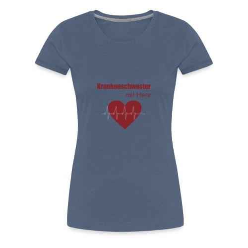 Krankenschwester mit Herz - Frauen Premium T-Shirt