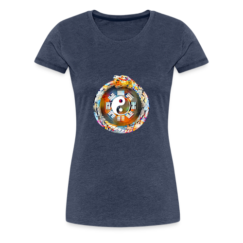 Ouroboros oder Uroboros - I Ging & Ying Yang - Frauen Premium T-Shirt