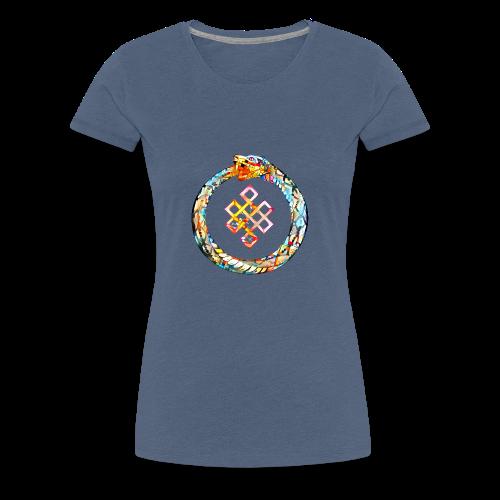 Ouroboros oder Uroboros - UNENDLICHER GlücksKNOTEN - Frauen Premium T-Shirt