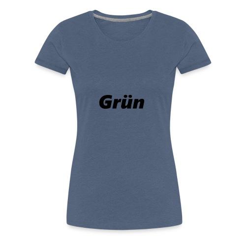 Grün green Geschenkidee Farbe im Leben - Frauen Premium T-Shirt