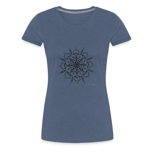 Mandala noir - T-shirt Premium Femme